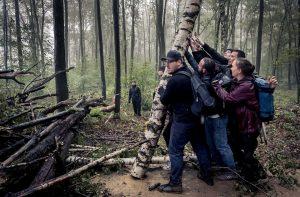 Ausstellung zum Projekt »Kampf um den Forst« von David Klammer